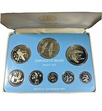 1979 Coinage of Belize Bird Cameo Proof Coin Set Franklin Mint Original Box