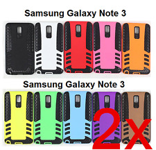 2x Rubber Hard Case Cover for Samsung Galaxy Note 3.