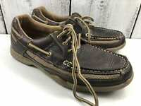 G.H.Bass & Co. Brown loafers boat shoes leather Size US 7 EUR 41 UK 6 AU 6 USED