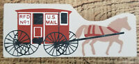 The Cat's Meow Figurine U.S. Mail Horse Carriage RFD No. 1 Vintage