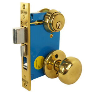 Maxtech Right Hand Reverse Double Cylinder Iron Gate Mortise Lockset