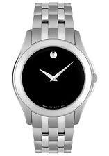 Movado Corporate Exclusive Men's Watch Black Dial Stainless Bracelet NIB $895