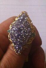 Tanzanite Ring, 4.57cts-multigemstone. Sz7/SS