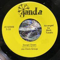 """unknown disco modern soul 7"""" JAN DAVIS GROUP Boogie Down ♫ Mp3 Janda Private"""