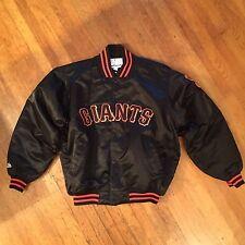 Rare Vtg Satin Majestic Starter throwback San Francisco Giants jacket Xl