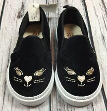 90b937b0dc2 Baby Gap Girls 8 (Toddler) Black Cat Slip-On Walking Shoes. Nwt