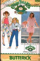 3258 UNCUT Vintage Butterick SEWING Pattern Girls Pants Dress Cabbage Patch OOP