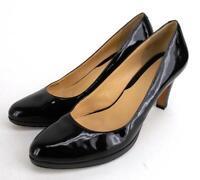 COLE HAAN Margot II Black Patent Leather Pumps Heels Women's 9 B