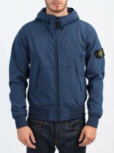 STONE ISLAND Soft Shell-R jacket Hooded Jacket - Blue Marine avio size xl