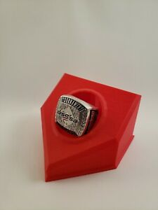 Championship Baseball Ring Display (Red) Youth Sports trophy shelf must have!