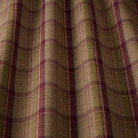 iLiv Lana Tartan Plaid Check Designer Upholstery Curtain Fabric | Berry