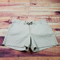 Lee Chino Shorts Womens Size 14 Tan Beige Khaki Casual Pockets Stretch