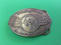 Billy Mills Olympic gold  Running Strong 40th American Indiana Youth Belt buckle