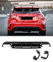 Für Mercedes-Benz A-Klasse W176 AMG Look Diffusor Stoßstange Auspuff Grill #01