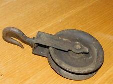 vintage POULIE et CROCHET Haken HOOK de mine MINA outils de mineur METIER