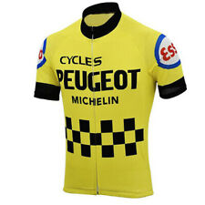 Cycling Short Sleeve Jersey Retro 1976 Peugeot Cycling Jersey