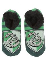 Harry Potter Slytherin Cozy Fluffy Slipper Socks Anti Slip Soles New With Tags!