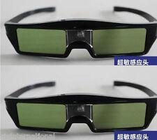 2pcs Best DLP Link Active Shutter 3D Ready Glasses for Projector Rechargeable
