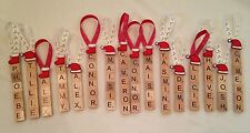 Scrabble Christmas Tree Decorations Personalised Vintage Wedding Favours
