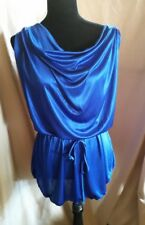 Lingerie Size Medium - Sexy Royal Blue Nightie with Matching Bottoms