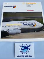 1/500 Herpa Lufthansa Boeing 747-8  Fanhansa Siegerflieger D-ABYI Potsdam NEU