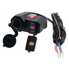 D74C Wasserdicht Motorrad Zigarettenanzünder Dual USB Steckdose 12V-24V 5V /2.1A