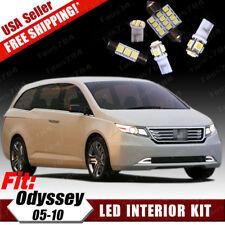 18 PCS LED White SMD Interior License Package Kit For Honda Odyssey 2005-2010