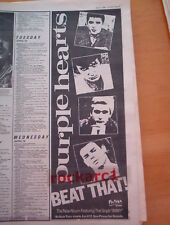 PURPLE HEARTS Beat That 1980 UK Poster size Press ADVERT 16x6 inches - MODS