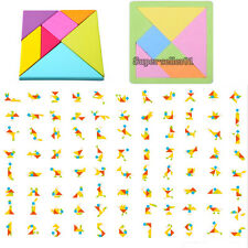 EVA Foam Tangram Brain Teaser Jigsaw Puzzle Educational Developmental Kids Toy