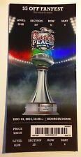 2014 Chick-fil-A Peach Bowl Club Ticket Stub TCU Mississippi Football