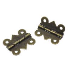 50 Bronze Scharnier Türangel Türband Schatullenscharnier Antikbeschlag 20x24mm