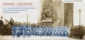 France 2019 MNH Diplomatic Relations JIS Poland De Gaulle 2v M/S Souvenir Stamps