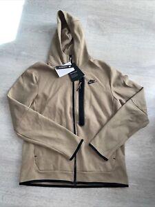 Nike Sportswear Tech Fleece Washed Full-Zip Hoodie Taupe DD3100-229 Men's Large