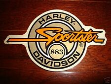 """HARLEY DAVIDSON GOLD CIRCLE SPORTSTER 883 DECAL STICKER 4.2"""" X 2.5"""" (OUTSIDE)NEW"""