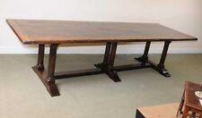 Grande table italienne réfectoire plage bois ferme cuisine salle à manger chevalets