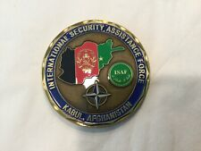 ISAF Kabul, Afghanistan medal challenge coin presented by DCOS Operations
