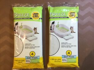 BREEZE Cat Pads Refills for Odor Control Made Easy (2 Per Lot) FAST FREE SHIP!!