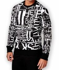 Sean John L Men's New Sweatshirt Sky is the Limit Graphic Print Black  $79 NWT