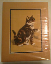 CAT PRINTS, LOT OF FIVE PRINTS , ARTIST GLADYS EMERSON COOK, MATTED, EX COND.