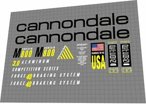 Cannondale M800 1992 Frame decal set
