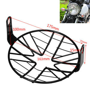 """6.5"""" Headlight Mesh Grill Stone Guard Motorcycle Headlamp Light Protector Cover"""