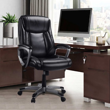 Executive Ergonomic Genuine Leather Black Gaming Reclining Office Chair