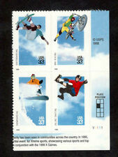 3321-24 Extreme Sports Bottom Plate Block Mint/nh FREE SHIPPING
