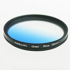 Adjust 58mm 58 mm Graduated Gradual Blue Color Special Effect Lens Filter Mount