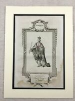 1791 Stampa King George III Ritratto British Royalty Originale Antico Incisione