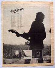 ERIC CLAPTON 1979 POSTER ADVERT CONCERT TOUR