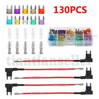 10pc Assorted Car Auto Van Fuse Set 7.5 10 15 20 25 30 Amp Rectangular Blade End