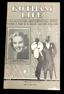 GOTHAM LIFE  New York Guide 1937 Deanna Durbin Three Smart Girls Cover 15 pages