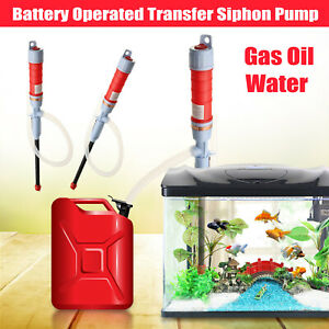 Electric Aquarium Fish Petrol Tank Water Gas Siphon Pump Cleaner Gravel Vacuum