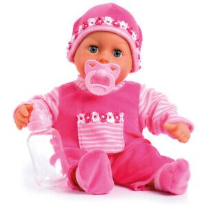 First words Baby Puppe 38 cm Funktionspuppe Schnuller Flasche von Bayer 93825AA